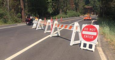 Highway 140 roadblock
