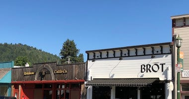 Businesses along Main Street in Guerneville