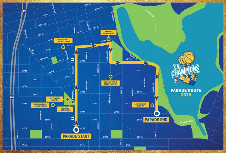 Map of Warriors Parade Route