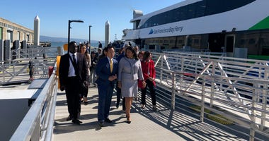 SF officials celebrate inaugural ride on Chase Center ferry