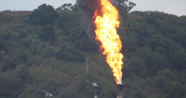 KCBS Radio listener Edward Tank provided this close-up photo of the flaring at the Chevron Richmond Refinery.