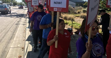 Alameda and San Leandro hospital nurses strike after 10 months of negotiations