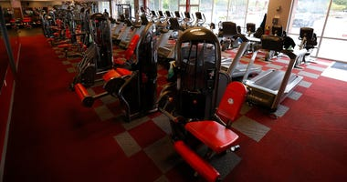 An empty gym in Powder Springs, Georgia. Georgia was first in the U.S. to allow gyms to reopen.