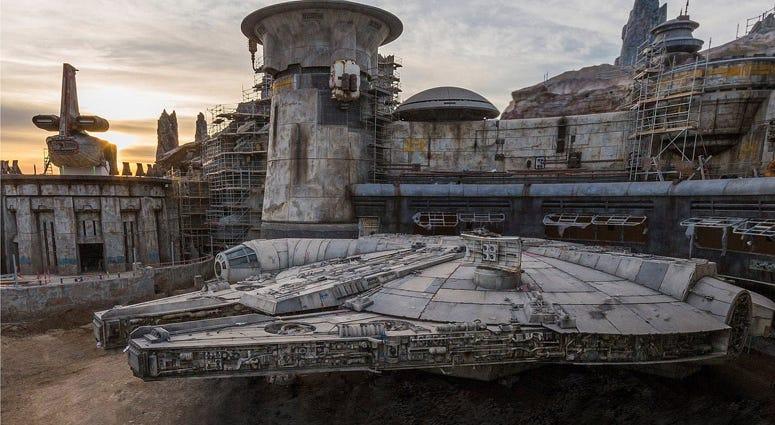Millennium Falcon at 'Star Wars: Galaxy's Edge' (Photo credit: Disneyland Resort)