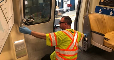 Dozens of BART cars are taken out of service every week so workers can repair malfunctioning doors.