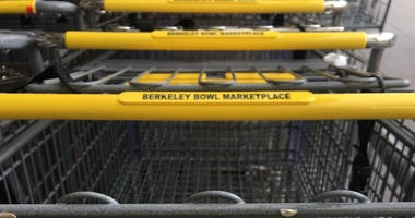 Shopping carts at the Berkeley Bowl.