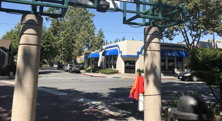 Pride flags were recently stolen from a San Jose crosswalk where pedestrians held them up as they crossed the street.