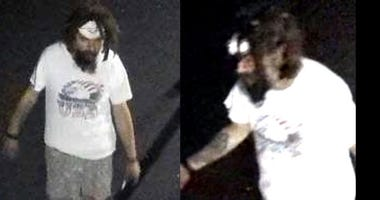 San Jose police believe that this man drew a swastika on a Muslim-owned dental practice