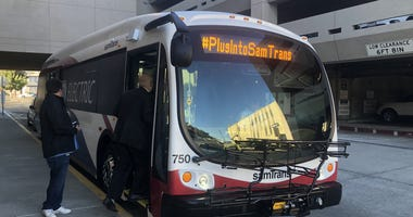 SamTrans added some electric buses to its fleet in October 2018.