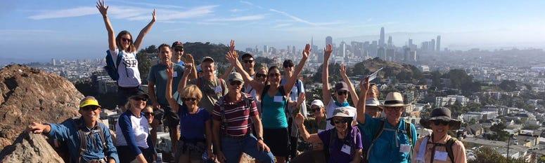 Peak2Peak is an annual long walk through San Francisco.