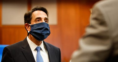 Santa Clara County DA Jeff Rosen in court during the coronavirus. His staff created code to clear 10,000 old marijuana convictions at once