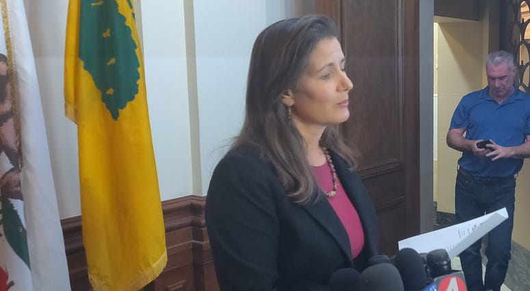 Oakland Mayor Libby Schaaf at Firing of Police Chief Anne Kirkpatrick
