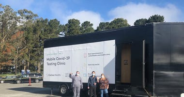 Rapid mobile testing lab at Stonestown Galleria in San Francisco