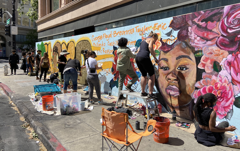 Oakland's art community is rushing to preserve dozens of pieces of protest art