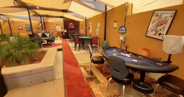 Casino moves card tables outdoors during coronavirus pandemic