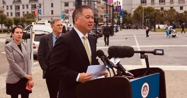 State Assemblyman Phil Ting of San Francisco introduces a proposal to increase a rebate for electric car buyers in California.
