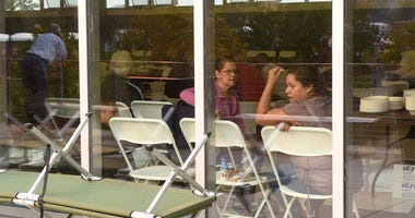 Fire evacuees receive aid and shelter at Napa Valley College