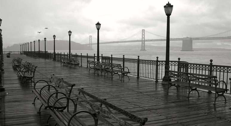 San Francisco Rain Broadway Pier