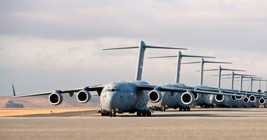 U.S. Air Force C-17 Globemaster III aircraft at Travis Air Force Base
