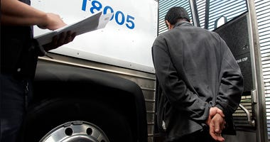U.S. Immigration and Customs Enforcement (ICE) Officer and detainee