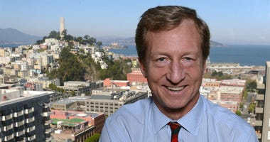 Hedge-fund billionaire Tom Steyer poses for portrait as he talks about the future of California politics at his office in San Francisco, November 12, 2012. (Photo by Karl Mondon/Contra Costa Times/MCT/Sipa USA)