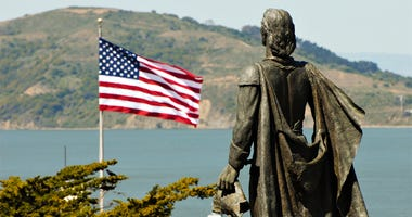 Statue of Christopher Columbus at Coit Tower - San Francisco