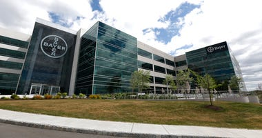 FILE - This May 13, 2015, file photo, shows the North American headquarters of Bayer Healthcare in Whippany, N.J. U.S. health officials are placing new restrictions on a contraceptive implant that has been subject to thousands of reports of painful compli