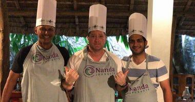 Anjan Mitra, Liam and Chef Arun Gupta of DOSA SF