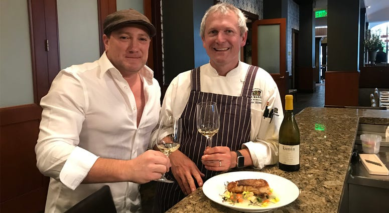 Chef Mark Dommen and Liam