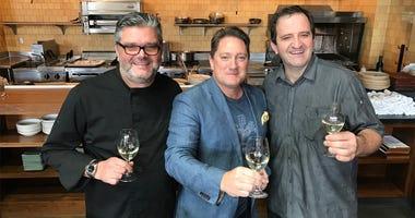 Chefs Donato Scotti & Gianluca Guilielmi with Liam
