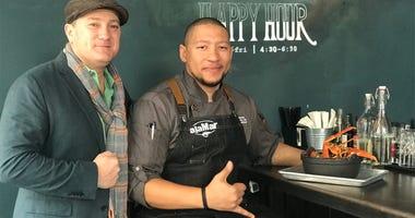 Liam & Chef Nelson German of alaMar Kitchen & Bar