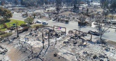 Wildfire Damage In Santa Rosa, CA