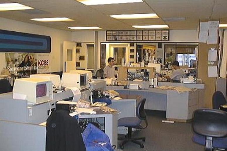 KCBS Radio newsroom Embarcadero Center 1996
