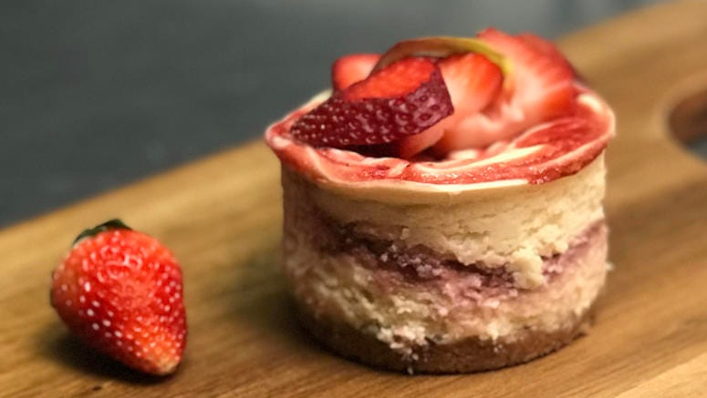 Chef Charles Farrier's 'Strawberry Fields Forever' Cheesecake