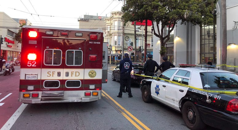 Three injured in Mission District crash