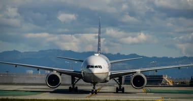 A jet at San Francisco International Airport