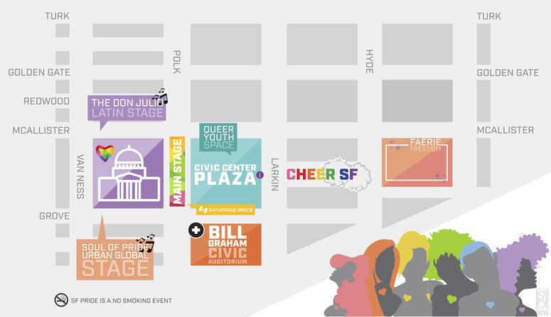 San Francisco Pride Celebration & Parade Map 2019