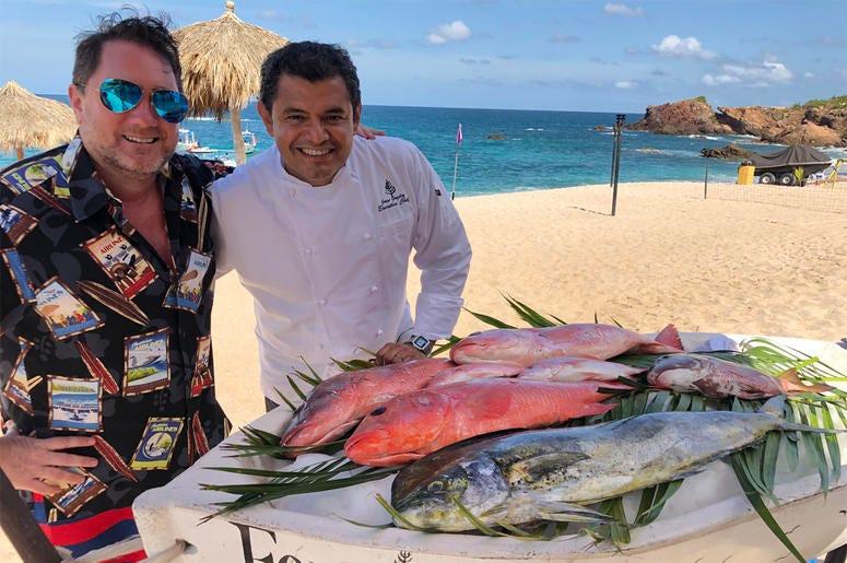 Chef Jorge González & Liam (Photo credit: Foodie Chap/Liam Mayclem)