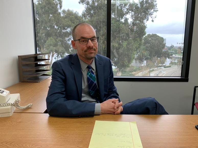 Jeff Chorney, an Alameda County Public Defender, said in December 2019 that juries should be reluctant to convict homeless people in some cases.