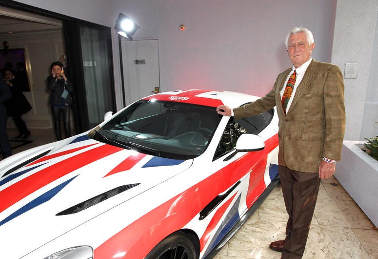 Actor George Lazenby attends the GREAT British film reception honoring the British nominees of the 87th Annual Academy Awards at The London West Hollywood on February 20, 2015 in West Hollywood.