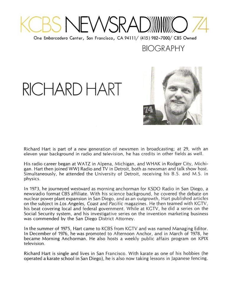 Richard Hart bio