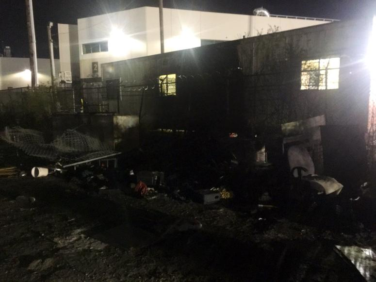 Fire at San Francisco homeless camp spreads to tech shuttle bus lot