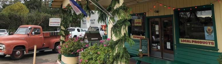 The Jimtown store near Healdsburg.
