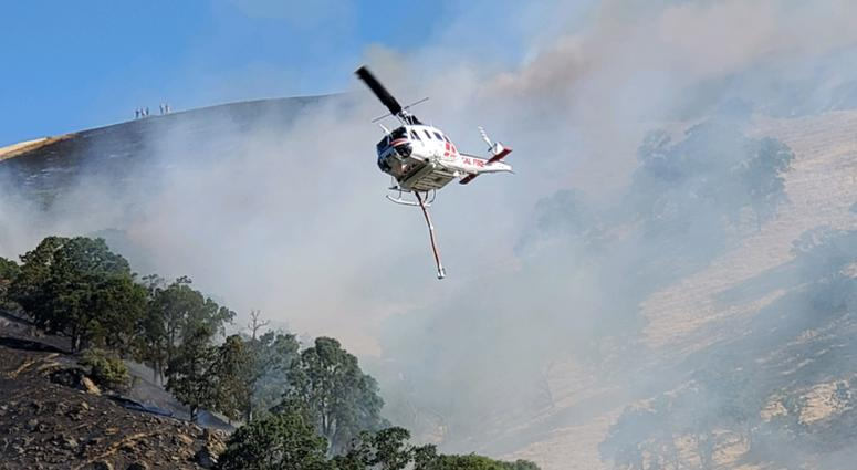 Authorities reported that nine brush fires in Clayton started early on Aug. 3, 2019.