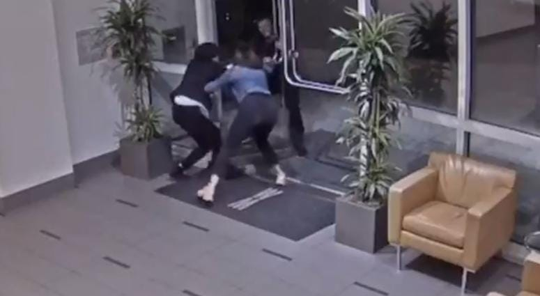 Paneez Kosarianfard on Aug. 14, 2019 tweeted the surveillance footage showing the suspect who attacked her outside of her condo building near the Embarcadero.