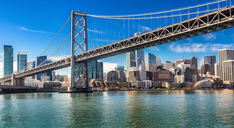 Sunday morning will see runners make their way from just west of the San Francisco Oakland Bay Bridge to a point just east of the Golden Gate Bridge in San Francisco's 43rd Annual Bridge to Bridge Run, benefiting Special Olympics of Northern California.