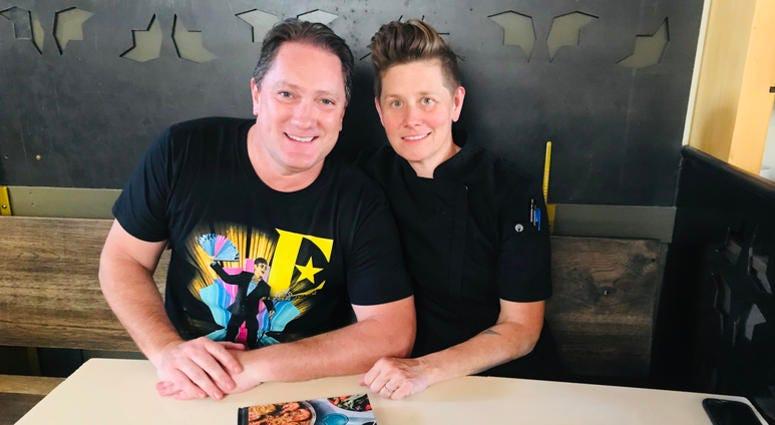 Chef Jen Biesty and Liam