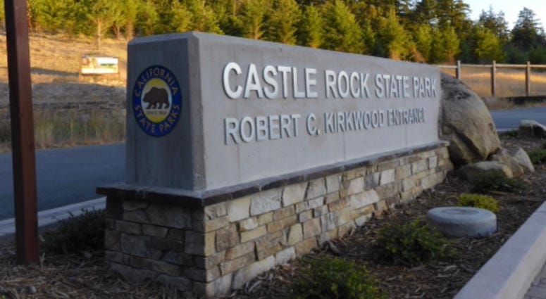The new entrance to Castle Rock State Park