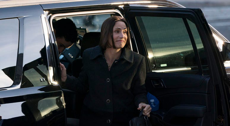 Fiona Hill, the former top Russia expert on the National Security Council, arrives to testify in the House's impeachment inquiry on Nov. 21, 2019.