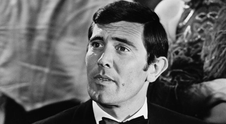 Australian actor George Lazenby playing 'James Bond' during a scene from 'On Her Majesty's Secret Service', 17th March 1969.